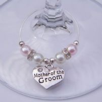 Mother Of The Groom Wine Glass Charms